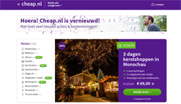 Screenshot Cheap.nl